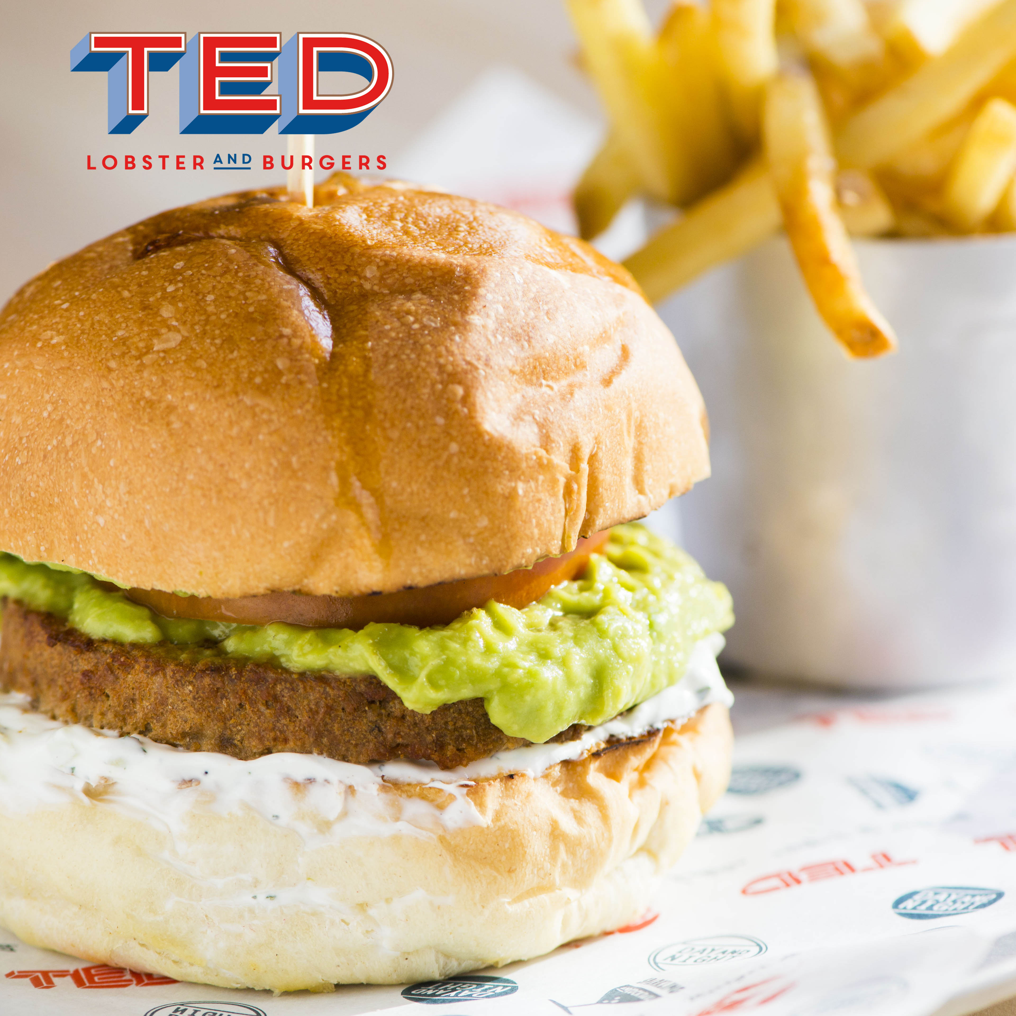 TED Lobster and Burgers Roma lunch veg burger