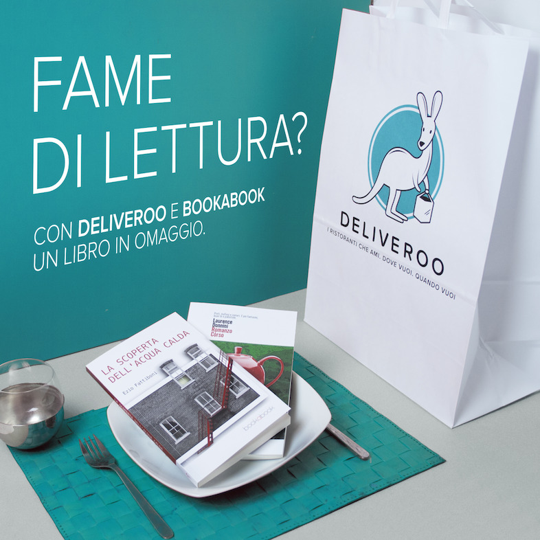 Deliveroo e Bookabook ordini da mangiare e ti arriva un libro in regalo